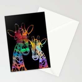 Cosmically Connected Galaxy Giraffes Stationery Cards