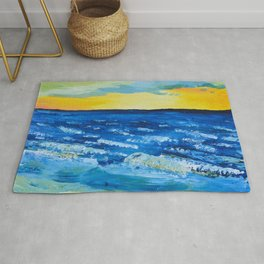 Sunset in Negril Rug