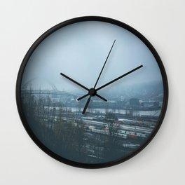 Overlook Park Fog Wall Clock