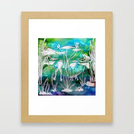 Pond Life Framed Art Print