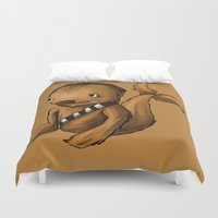 chewbacca Duvet Covers featuring Chewbacca Whale by CoolBreezDesigns
