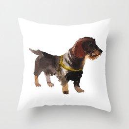 watercolor dog vol 10 dachshund Throw Pillow