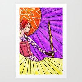 Borderlands Tarot: The Queen of Swords Art Print