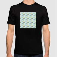 Pastel Squares Mens Fitted Tee Black SMALL