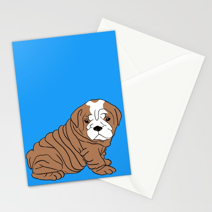 Bulldog Puppy Stationery Cards