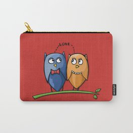 Owl Love red Carry-All Pouch