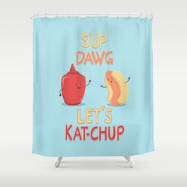 Good Old Friends Shower Curtain