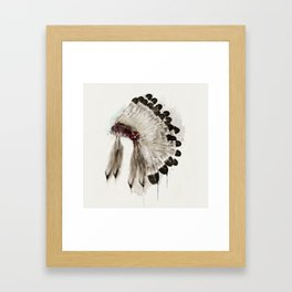 peace headdress Framed Art Print