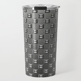 Silver Shine square embellishment on grey Travel Mug