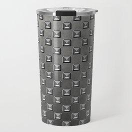 Silver Shine square embellishment on grey Travel Mug