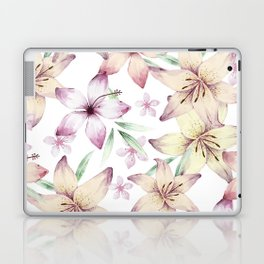 Lilium & Hibiscus pattern Laptop & iPad Skin