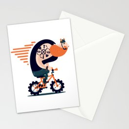 Big biker on a small bike Stationery Cards