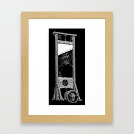 hungry guillotine Framed Art Print