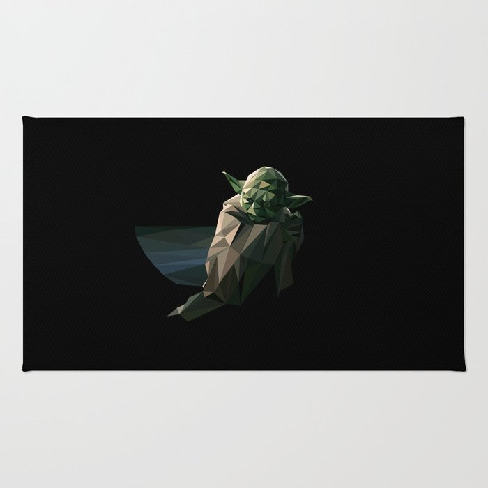 Geometric Yoda Rug