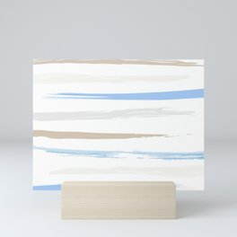 Blue Marine Stripes Mini Art Print