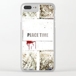 Peace Time Clear iPhone Case