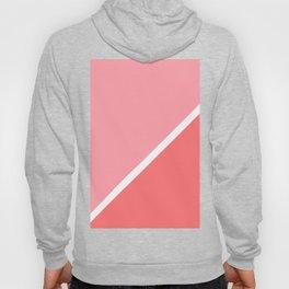 Modern minimalist geometric pink coral color block Hoody