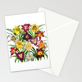 Display of daylilies I Stationery Cards
