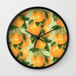 Grapefruit branches Wall Clock