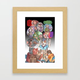 DnD Cats Framed Art Print