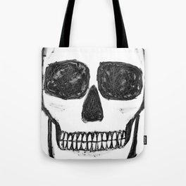 No. 89 - Black and white skull Tote Bag
