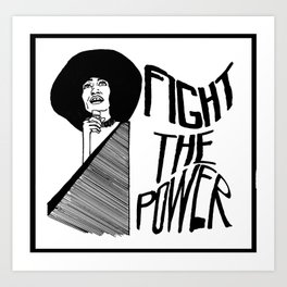 Fight the Power: Angela Davis Art Print
