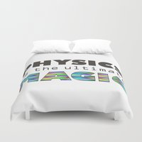 physics Duvet Covers featuring Physics is the ultimate magic by WillowDesign