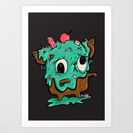 Ice Cream Zombie Bub Art Print