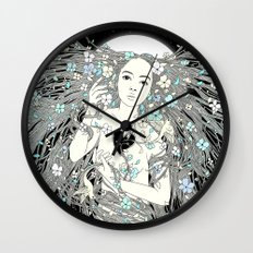 Tangled Up in Life (A Portrait of Nature) Wall Clock