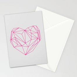 Heart Graphic Neon Version Stationery Cards