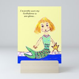 Sea Glass Mermaid Mini Art Print