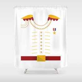 xHalloween Cute Prince General Costume Shower Curtain