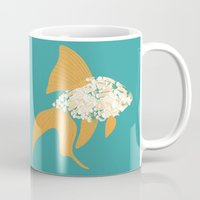 goldfish Mugs featuring Goldfish by Julia Kisselmann