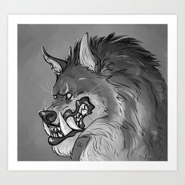 Werewolf Portrait Art Print