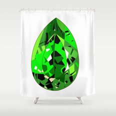 GEMS - green , expensive look , luxury and shine Shower Curtain