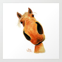 Happy Horse ' NuGGeT ' by Shirley MacArthur Art Print