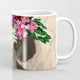 Floral Woman Vintage White Rose Gold Coffee Mug
