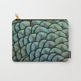 Beautiful Elegant Peacock Feathers Carry-All Pouch