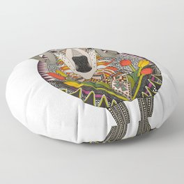 Aries ram white Floor Pillow