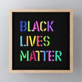 Black Lives Matter Colorful Stencil 1 Framed Mini Art Print
