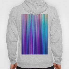Abstract Purple and Teal Gradient Stripes Pattern Hoody