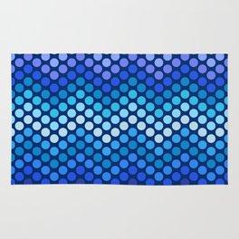 Dot Chevron: Blue violet Rug