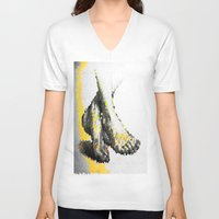 feet V-neck T-shirts featuring Crystal Feet by Latidra Washington