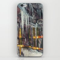 cities iPhone & iPod Skins featuring Stalactite Cities by tranquileyez