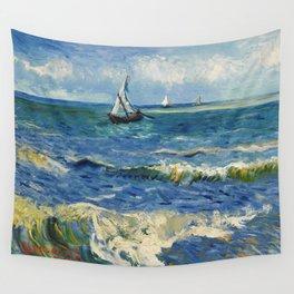 Seascape near Les Saintes-Maries-de-la-Mer by Vincent van Gogh Wall Tapestry