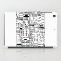 cityscape iPad Cases featuring cityscape by Anna Grunduls