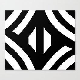 Stripe Me Black And Whte Canvas Print