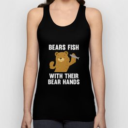 Bears Fish With Their Bear Hands Unisex Tank Top