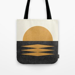 Sunset Geometric Midcentury style Tote Bag