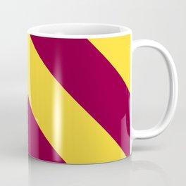 Sunnydale High Chevron (Maroon & Gold - #8A0034 x #FFDC32) Coffee Mug